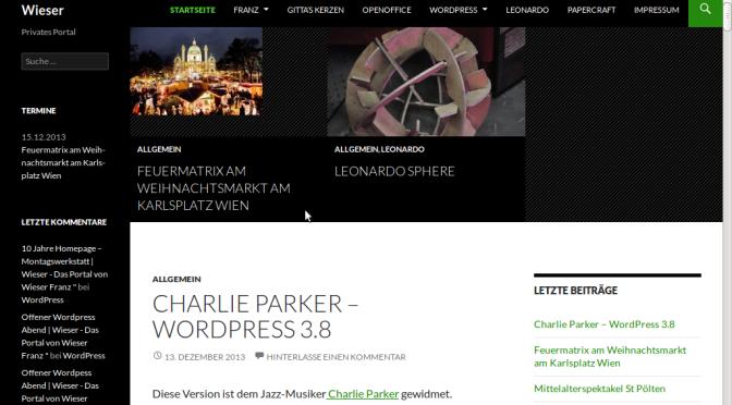 Charlie Parker – WordPress 3.8